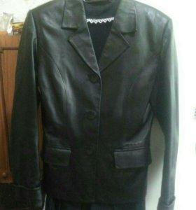 Пиджак 44-46размер кожа.