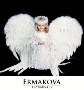 Фотосессия с крыльями ангела