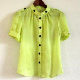 Шифоновая блузка лимонного цвета