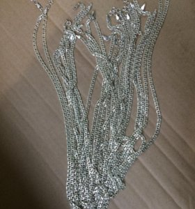 серебрянные цепочки 50 рублей за грамм
