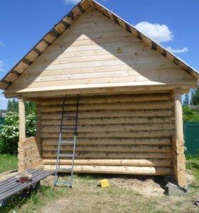 Срубы бань и домов из бревна ручной рубки Псков