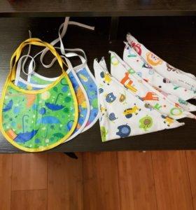 Нагрудники, слюнявчики для малышей