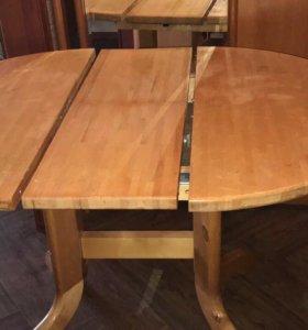 Стол обеденный круглый (раздвижной) массив