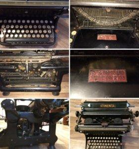 Печатная машинка Continental и швейная машинка