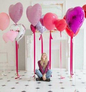 Воздушные шары к 14 февраля