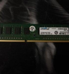🔥🌪Оперативная память Crucial DDR3 2x4GB 1866 MHz