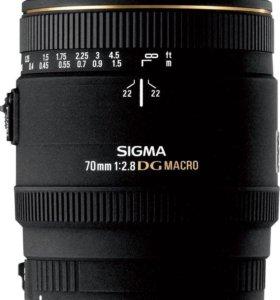 Объектив sigma 70mm f/2.8 macro ex dg