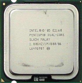 Процессор dual core intel pentium e2160