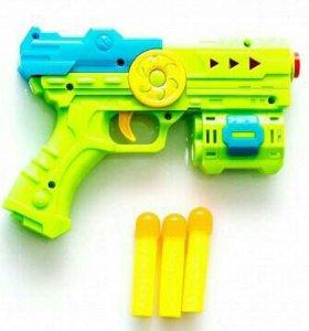 Пистолет 21см с мягкими пулями, пак. 529-2