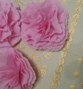 Декорации из гофрированной бумаги