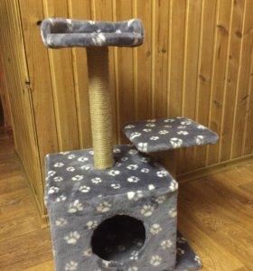 Трёхъярусный новый дом-когтеточка