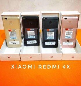 Новые Xiaomi Redmi 4X 2/16 и 3/32гб.