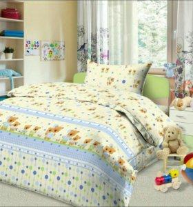 НОВЫЙ Комплект постельного белья в кроватку