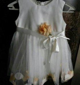 Нарядное платье + болеро б/у 1 раз