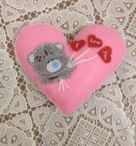 Сердце ручной работы на 14 февраля