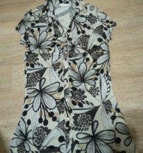 Удлиненная трикотажная блуза Yessica бу