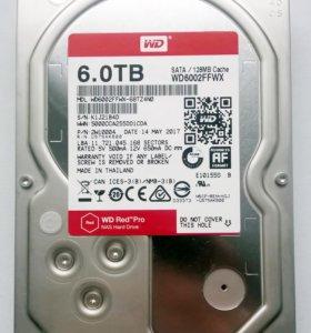 WD Red Pro 6 Tb практически новый