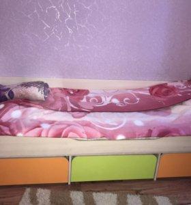 Кровать с матрасом односпальная кровать