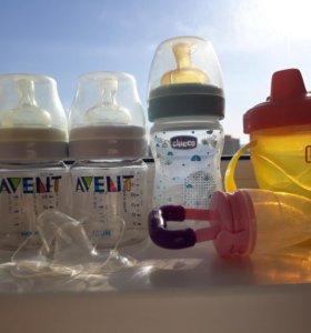 Накладки+ бутылочки+кружечка+соска для фруктов