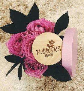 Цветы в коробочках на заказ