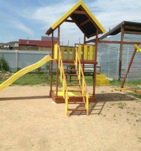 Детский игровой комплекс. Песочница, горка, качели