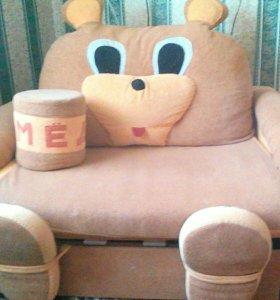 Детская диван - кровать Мишутка