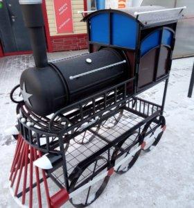 Мангал- барбекю в виде паровоза