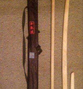 Комплект деревянного оружия:бокен, дзё и танто