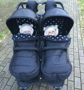 Матрасики,накидки в коляску valco baby и др