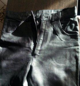 СРОЧНО!!! Кожаные мужские брюки 46р.