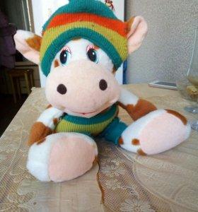 Мягхкая игрушка- Веселый теленок