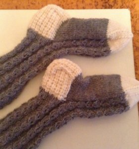 Носки тёплые с узором