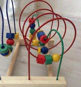 Мула лабиринт ikea , деревянная игрушка
