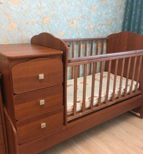 Детская кровать с матрасом. Срочно!