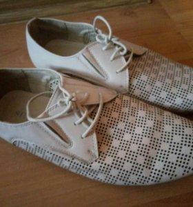 Туфли кремовые мужские