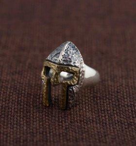Серебро s 925 кольцо СПАРТА можно на 23 февраля