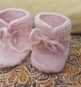 Шерстяные носочки для новорожденных