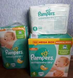 Подгузники Pampers Active Baby 8-14кг