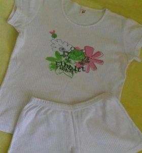 🍒 Пижама трикотажная д/девочки на 140-146 см