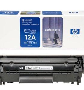 Новый картридж HP 12A