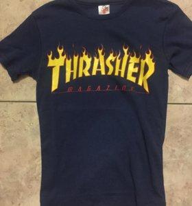 Футболка хлопковая Thrasher Magazine новая.Темно с