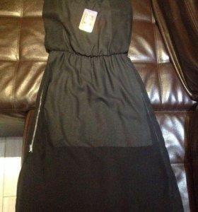 Платье интересное двойное новое разм 44-46