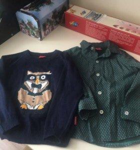 Комплект рубашка  и джемпер Бебуш