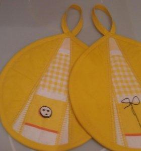 Прихватки - симпатяшки (желтые), новые