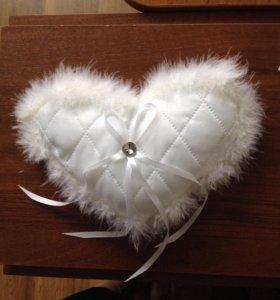 Подушка для колец свадебная