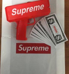Денежный пистолет supreme с купюрами