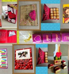 шокобоксы и сладкие открытки