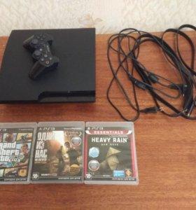 Sony PlayStation 3 Slim 320Gb + 7 игр