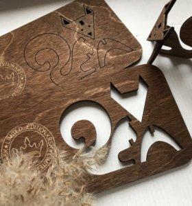 Открытка / сувенир из дерева