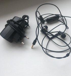 Зарядное устройство +наушники NOKIA (новые)